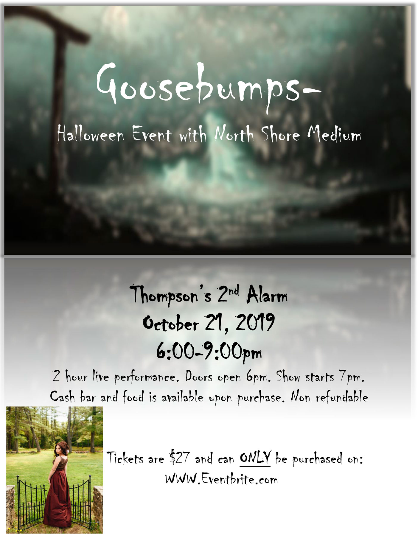Goosebumps- Halloween Event with North Shore Medium