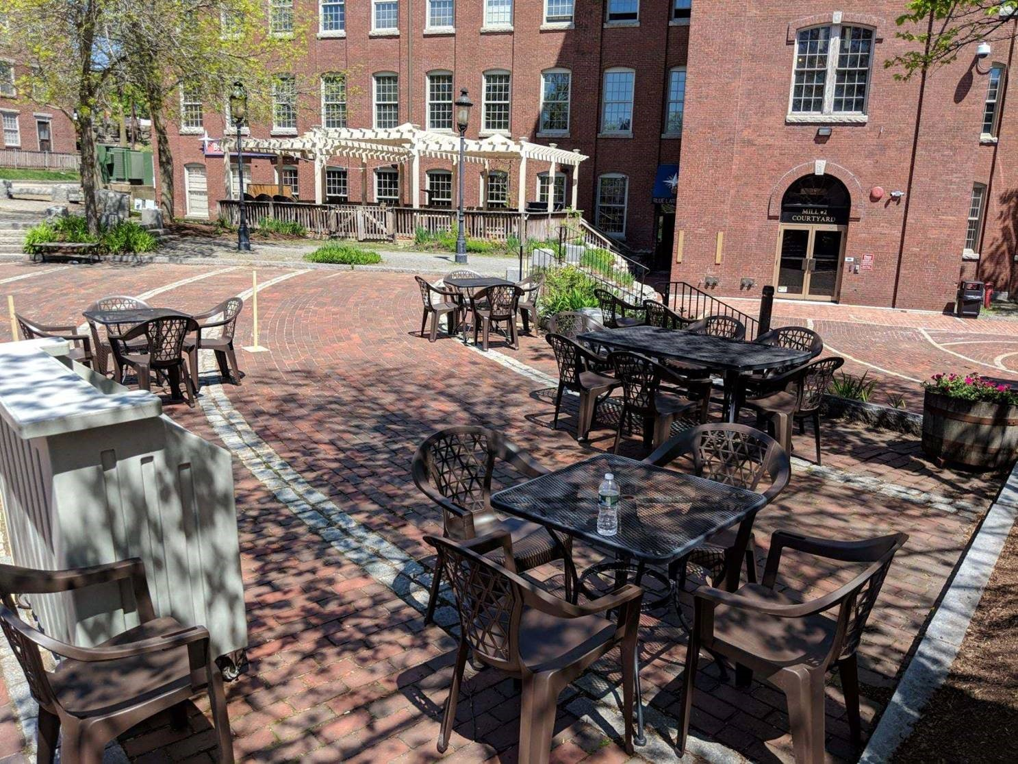Courtyard seating available on certain days